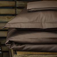 Постельное белье полуторное Комильфо люкс-сатин 160х220 коричневый KT0029