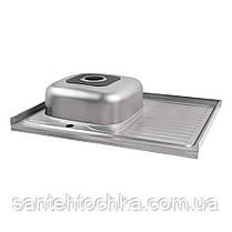 Кухонная мойка Lidz 6080-L Polish 0,6 мм (LIDZ6080LPOL06), фото 3