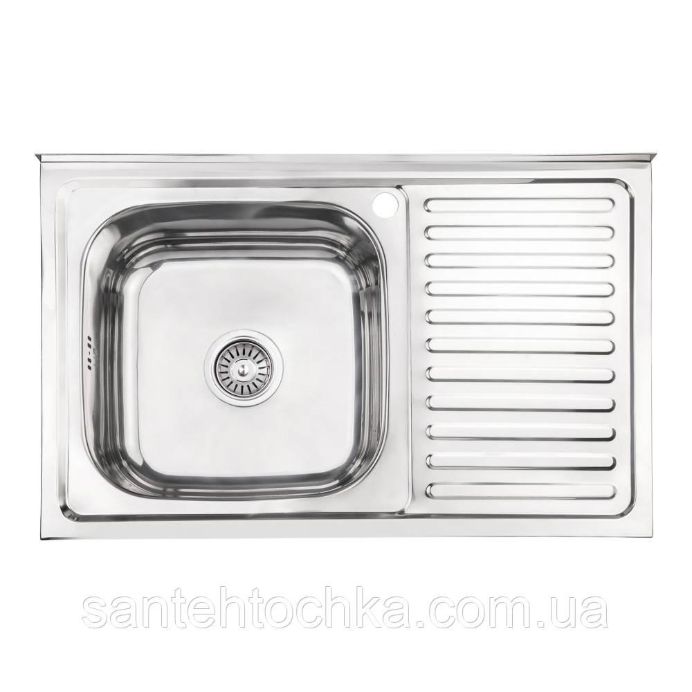 Кухонна мийка Lidz 5080-L Polish 0,8 мм (LIDZ5080LPOL08)