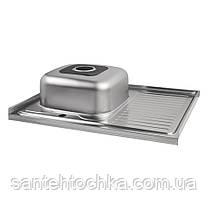 Кухонная мойка Lidz 6080-L Satin 0,8 мм (LIDZ6080LSAT8), фото 3