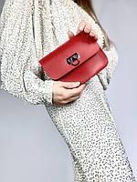 Червона жіноча сумочка з екошкіри FUх4