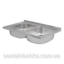 Кухонная мойка Lidz 5080 Satin 0,8 мм (LIDZ5080SAT8), фото 2