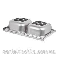 Кухонна мийка Lidz 5080 Satin 0,8 мм (LIDZ5080SAT8), фото 3