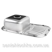 Кухонна мийка Lidz 7549 Satin 0,8 мм (LIDZ7549SAT8), фото 2
