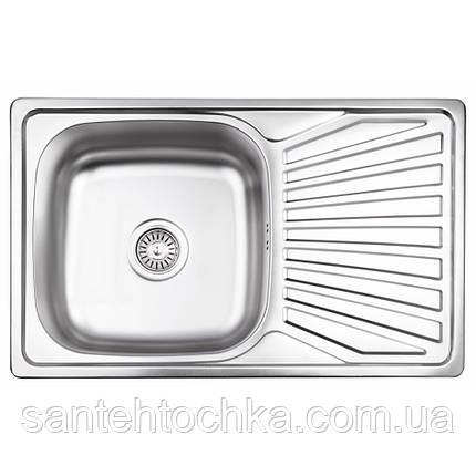 Кухонная мойка Lidz 7848 Micro Decor 0,8 мм (LIDZ7848MDEC), фото 2