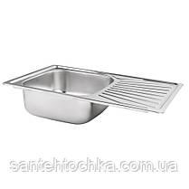 Кухонная мойка Lidz 7848 Micro Decor 0,8 мм (LIDZ7848MDEC), фото 3