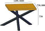 Стол на металлическом каркасе АЙРОН, фото 2