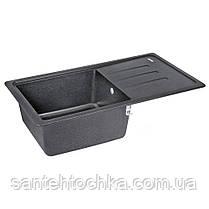 Кухонная мойка Lidz 780x435/200 BLA-03 (LIDZBLA03780435200), фото 2