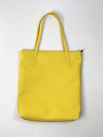 Сумка женская шопер из экокожи желтая с молнией SP2x8, фото 1