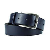 Ремень мужской кожаный классический синий PS-3596 blue (130 см), фото 1