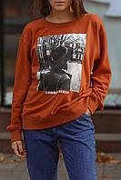 Женский свитшот ONLY коричневого цвета размер S
