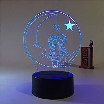 """3D Світильник """"Молодь"""" Подарунок на день народження кращої подруги, Жіночі подарунки на день народження"""