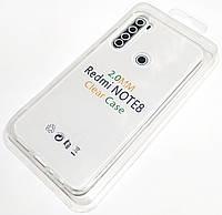 Чехол 2 мм для Xiaomi Redmi Note 8 силиконовый прозрачный Case Silicone Clear 2.0mm