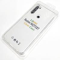 Чохол 2 мм для Xiaomi Redmi Note 8T прозорий силіконовий Silicone Case Clear 2.0 mm