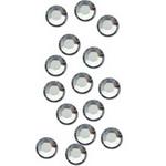 Стрази для декору нігтів - Crystal (срібло) SS3, 100 шт/уп.