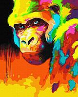 Орангутанг в красках Картина по номерам 40x50 см