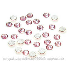 Стразы для декора ногтей - Light Rose (розовые) SS3, 100 шт/уп.