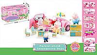 Машина ресторан Свинки Пеппы с мебелью, 4 героя, посуда и аксессуары