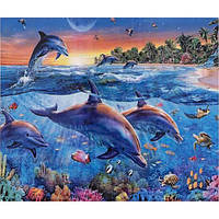 Алмазна мозаїка 30х40 см DIY Дельфіни (SM 73542)