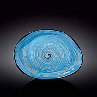 Блюдо камінь Wilmax Spiral Blue WL-669642-A 33х24.5 см
