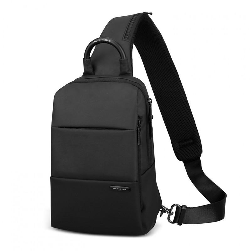 Рюкзак міський однолямочный чорний чоловічий Стильний рюкзак на одне плече