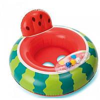 """Детский надувной круг-плотик """"Арбуз"""" с ножками Intex, 74 см (56592), фото 1"""