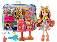 """Игровой набор Энчантималс с куклой Лев Лейси """"Салон причесок"""" Enchantimals Mattel (GTM29)"""