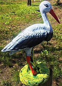 Садово-паркова фігура з гіпсу Лелека, 36 см