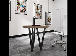 Столи обідні в стилі лофт Ві 3 ноги Метал-Дизайн / Metall Design