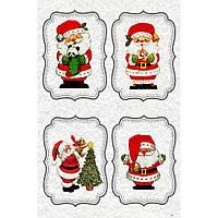 """Фетр с новогодним, зимним принтом рисунком """"Дед Мороз"""" ПНГ006"""