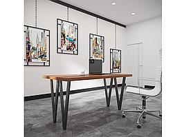 Столи обідні в стилі лофт Ві 4 ноги Метал-Дизайн / Metall Design