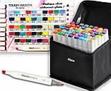 Скетч маркеры для художников Touch Smooth 48 шт фломастеры двусторонние спиртовые для рисования и скетчинга, фото 3