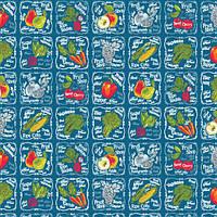 Кухонне вафельний рушник, Овочі , 30х50, бавовна