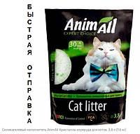 Силикагелевый наполнитель AnimAll Кристаллы изумруда для котов, 3.8 л (1.6 кг), фото 1