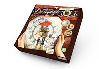 Комплект креативного творчества  Decoupage Clock Мелодия дождя , с рамкой