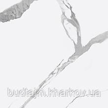 600х600 Керамограніт підлогу Калаката Віра Calacatta Vera білий матовий
