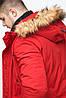 Молодежная мужская красная зимняя парка с карманами модель 25690 (ОСТАЛСЯ ТОЛЬКО 48(M)), фото 6