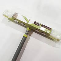 Швабра для окон с телескопической ручкой, поролоном и водогонном KD-W12