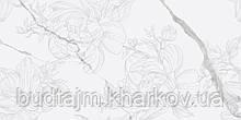 300х600 Керамограніт стіна декор Калаката Віра Магнолія Calacatta Vera білий глянсовий