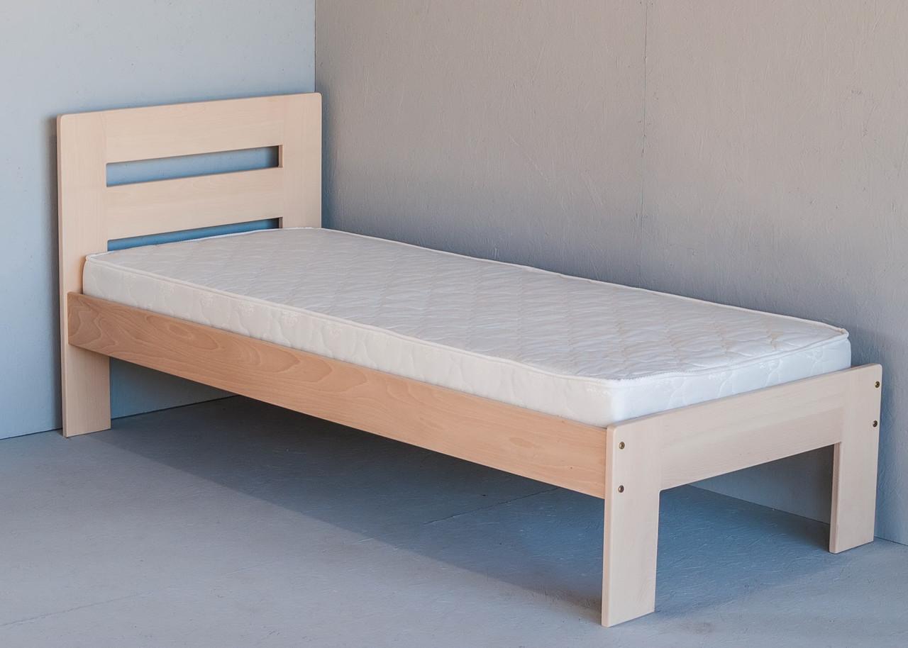 """Односпальне ліжко """"Талія"""" з дерева (масив бука)"""