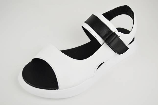 Босоніжки на липучці Teona 21170 39 Білий шкіра, фото 2