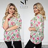 Жіноча блуза великого розміру 52-54, 56-58, 60-62, фото 6