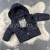 Детская демисезонная куртка-пуффер цвет черный
