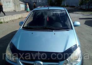 Мухобойка, дефлектор капота HYUNDAI GETZ с 2005- г.в.