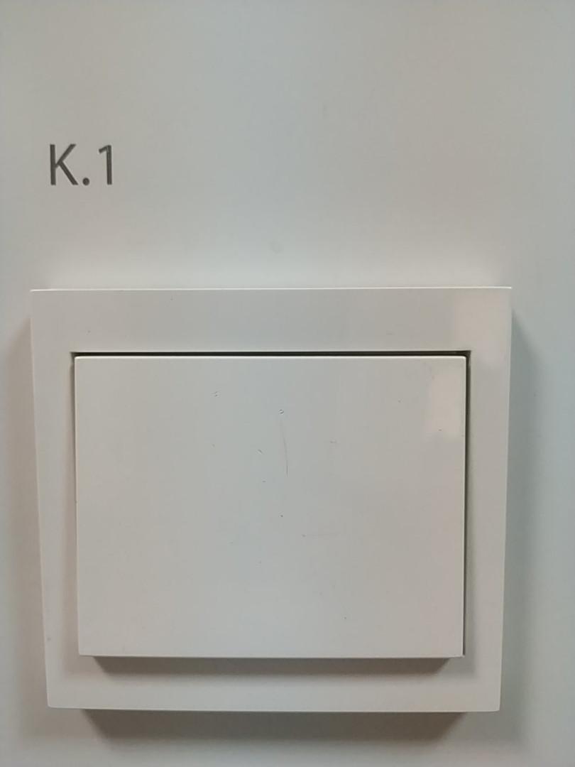 Выключатель 1-клавишный Berker K.1 полярная белизна, белый