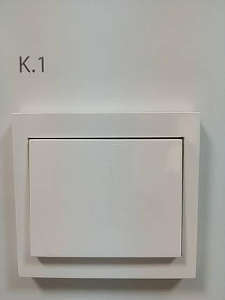 Выключатель 1-клавишный Berker K.1 полярная белизна, белый, фото 2