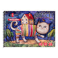"Альбом для акварели SANTI ""Wonderland"", А5, ""Paper Watercolour Collection"", 12л.,200 г/м2"