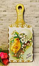 Доска разделочная кухонная, сувенирная, Пасхальная тематика