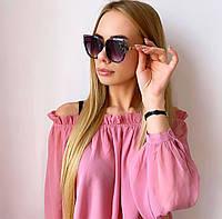 Женские  черные солнцезащитные очки, фото 1