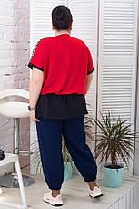 Красная туника свободная большие размеры для полных, фото 2